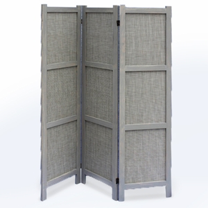 Unique Terrance 3 Panel Solid Wooden Screen with Matt Finish Brand Screen Gem
