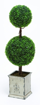 "Unique Topiary Boxwood with Artistic design Floral Décor 43"" Height Brand Woodland"