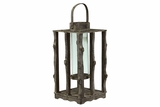 Unique & Traditional Wooden Lantern Feat All Natural Tree Branches & Twigs