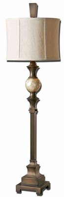Unique Tusciano Dark Bronze Floor Lamp with Capiz Shell Ball Brand Uttermost