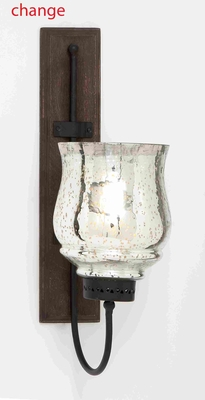 "Unique Wood Metal Candle Sconce with Sturdy Construction 21"" H Brand Woodland"