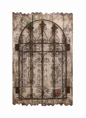 Unique Wooden and Metal Rustic Style Wall D�cor Work Brand Woodland