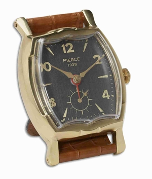 Unique Wristwatch Table Clock With Alloy and Brass Finish Brand Uttermost