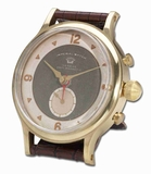 Unique Wristwatch Table Clock With Shiny Alloy and Brass Finish Brand Uttermost