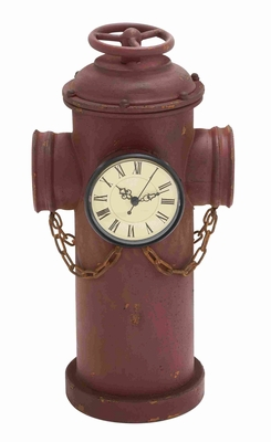 Uniquely Designed Metal Clock with Old and Rusty Touch Brand Woodland