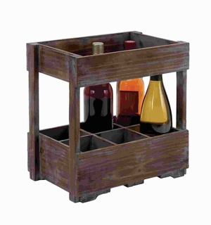 Uniquely Designed Wood Wine Rack for Classic and Unique Wines Brand Woodland