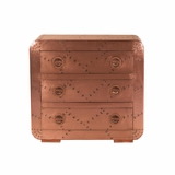Uniquely Styled Aged Copper Finish Chest by Yosemite Home Decor