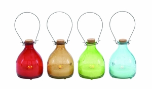 Uniquely Styled Glass Led Candle 4 Assorted by Woodland Import