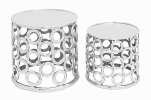 Urban Style Aluminium Stool with Metallic Finish (Set of 2) Brand Woodland