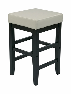 Urban Styled Metro Square Top Wooden Stool by Office Star