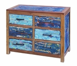 Urbanized Sturdy Wooden Chest of Drawers Retro Design Series Brand Woodland