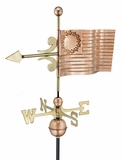 US Flag Weathervane - Polished Copper by Good Directions