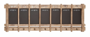 Useful Daily Calendar Board with Hooks for Scheduling and Reminders Brand Woodland