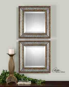 UT13790 NORLINA Squares Mirror Wall Art Set/2 by Matthew Williams Brand Uttermost