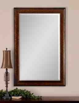 UT14169HEALY Antique Mirror in Rustic Bronze and Gold Details Brand Uttermost