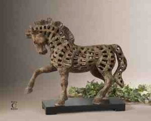 UT19217 PRANCING HORSE Resin Sculpture by Billy Moon Brand Uttermost