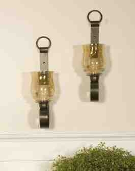 UT19311 JOSELYN Small Wall Sconces Set/2, Bonze Metal Wall Sconces Brand Uttermost