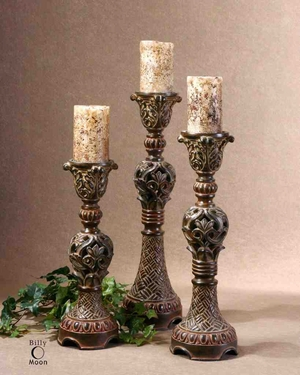 UT20312 ROSINA Candlesticks Set/3 By Billy Moon Design Brand Uttermost