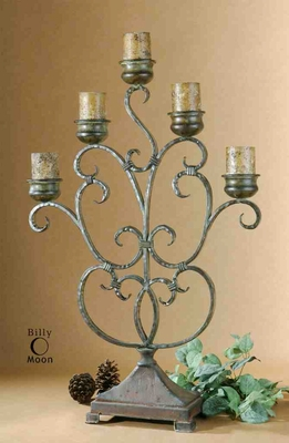 UT20808 JULIANA Candelabra Design by Billy Moon, Five Candles Brand Uttermost