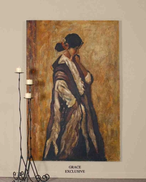 UT32071 SERENITY Hand Painted Oil Painting on Board by Grace Feyock Brand Uttermost