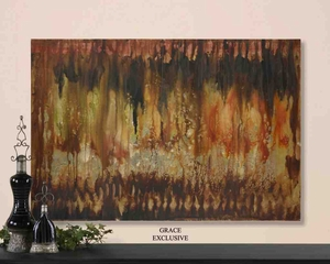 UT32159 MISTY VIEWS Hand Painted Artwork on Canvas by Grace Feyock Brand Uttermost