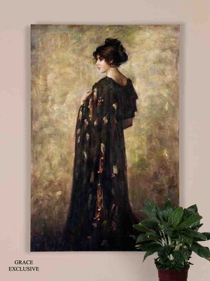 UT32197 CONTEMPLATION LADY Oil on Canvas Wall Art by Grace Feyock Brand Uttermost