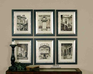 UT33430 PARIS SCENE SET OF 6 French Wall Decor by Grace Feyock Brand Uttermost