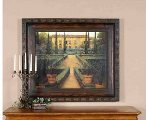 UT50422 GARDEN MANOR Oil Reproduction on Metal Frame By MASDEU Brand Uttermost