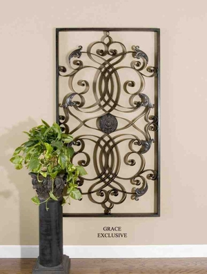 UT7527 EFFIE Rectangle Decorative Mirror Wall Art by Grace Feyock Brand Uttermost