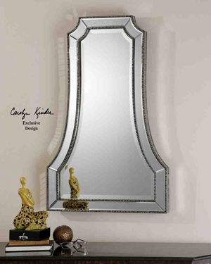 UT8077 CATTANEO Glass/PU/MDF Decorative Mirror from Carolyn Kinder Brand Uttermost