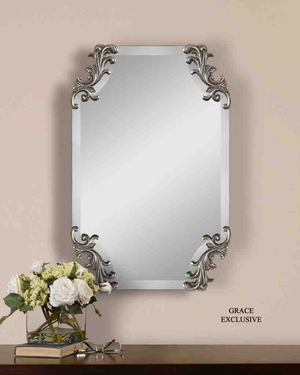 UT8087 ANDRETTA Frameless Beveled Mirror Design by Grace Feyock Brand Uttermost