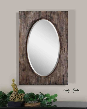 UT9503 HITCHCOCK Mirror with Broad Wooden Frame, by Carolyn Kinder Brand Uttermost