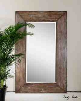 UT9505 LANGFORD LARGE 10 Inch Wide Frame Mirror by Carolyn Kinder Brand Uttermost