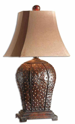 Valdemar Metal Table Lamp with Mahogany Finish Brand Uttermost