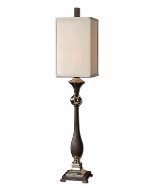 Valstrona Black Buffet Lamp with Nickel Detailing Brand Uttermost