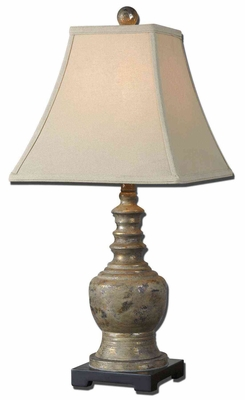 Valtellina Taupe Gray Buffet Lamp with Golden Undertone Brand Uttermost