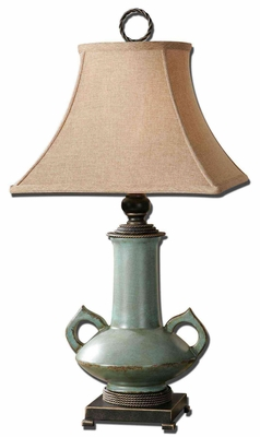 Vamano Antlque Table Lamp with Bronze Detailing in Gold Brand Uttermost