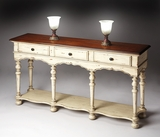 "Vanilla & Cherry Console Table 60""W by Butler Specialty"