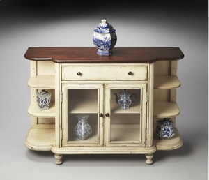 "Vanilla & Cherry Display Console 50.5""W by Butler Specialty"