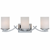 Vanity Lighting Aesthetic Stylized 3 Lights Vanity with White Opal Glass by Yosemite Home Decor