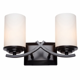 Vanity Lighting Attractive 2 Lights Vanity Light in Oil Rubbed Bronze by Yosemite Home Decor