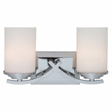Vanity Lighting Classy Styled 2 Lights Vanity with White Opal Glass by Yosemite Home Decor