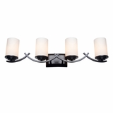 Vanity Lighting Classy Styled 4 Lights Vanity Light in Oil Rubbed Bronze by Yosemite Home Decor
