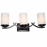 Vanity Lighting Modish Styled 3 Lights Vanity Light in Oil Rubbed Bronze by Yosemite Home Decor