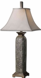 Vasto Crushed Glass Lamp with Nickel Plated Detailing Brand Uttermost