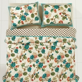 Veridian Twin Set; Quilt 86x68-1 Sham 21x27 - 25466 by VHC Brands