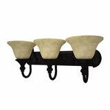 Verona Collection Creative Stylized 3 Light Vanity Lighting in Bronze Frame by Yosemite Home Decor