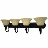 Verona Collection Enthralling Styled 4 Lights Vanity Lighting in Bronze Frame by Yosemite Home Decor