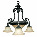 Verona Collection Eye catching Stylized 4 Lights Chandelier in sienna Bronze by Yosemite Home Decor