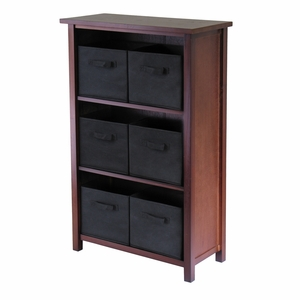 Winsome Wood Verona Three Tier Wooden Polished Storage Shelf